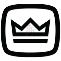Crown Car Audio Decal Sticker Style 1