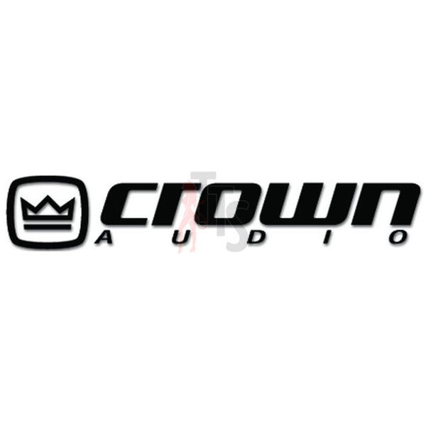 Crown Car Audio Decal Sticker Style 2