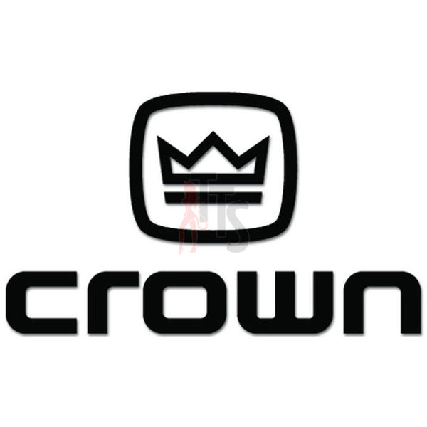 Crown Car Audio Decal Sticker Style 3