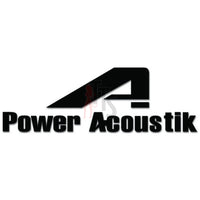 Power Acoustik Vinyl Decal Sticker