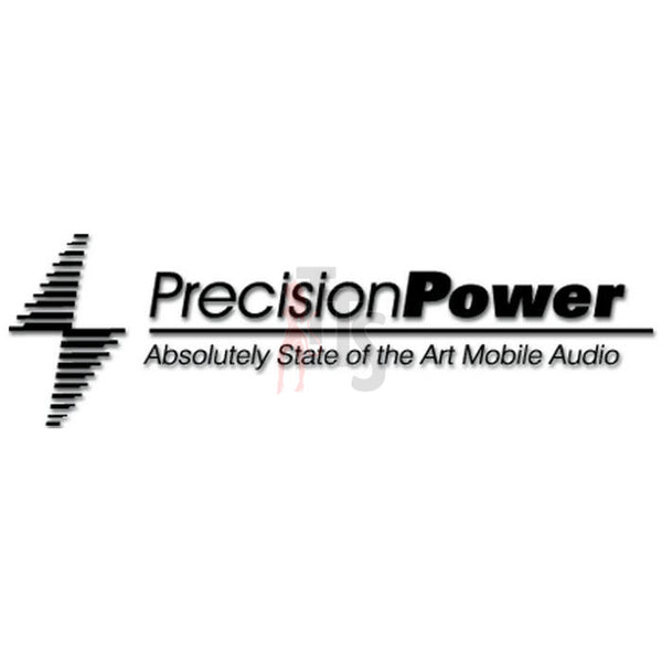 Precision Power Car Audio Decal Sticker Style 2