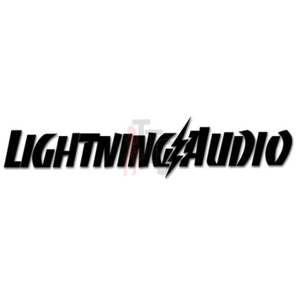 Lightning Car Audio Decal Sticker Style 2