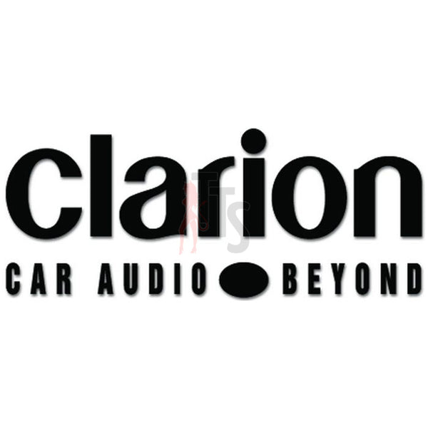 Clarion Car Audio Decal Sticker