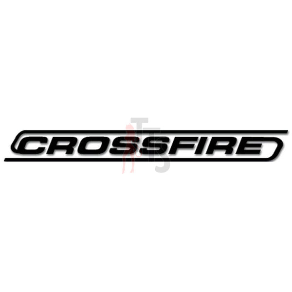 Crossfire Car Audio Decal Sticker