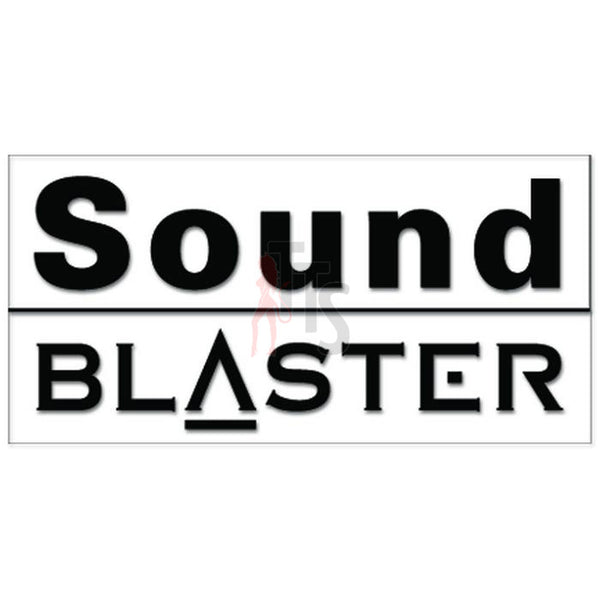 Sound Blaster Car Audio Decal Sticker