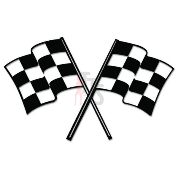 Racing Checkered Flag Decal Sticker Style 5
