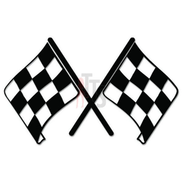 Racing Checkered Flag Decal Sticker Style 6