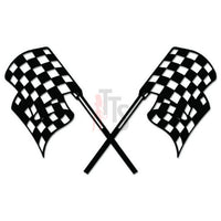 Racing Checkered Flag Decal Sticker Style 8