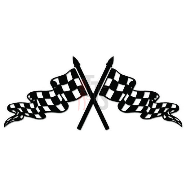 Racing Checkered Flag Decal Sticker Style 2