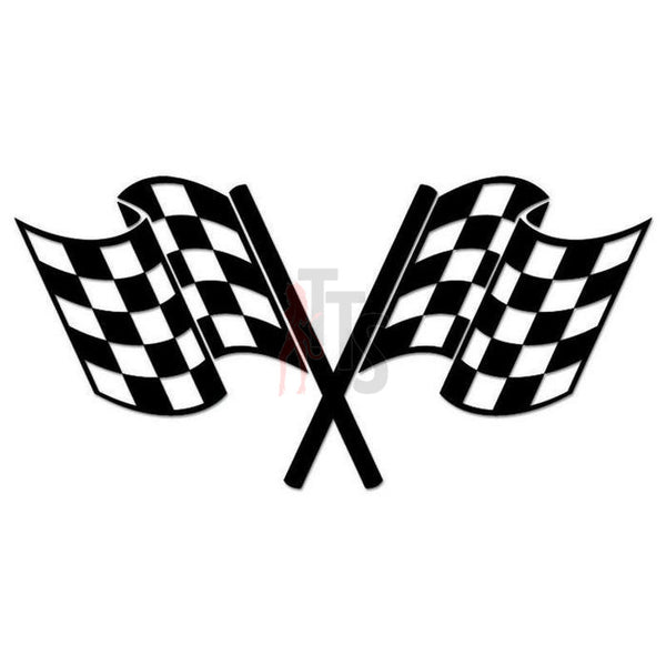 Racing Checkered Flag Decal Sticker Style 3