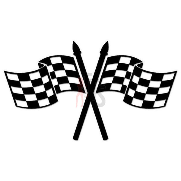 Racing Checkered Flag Decal Sticker Style 11