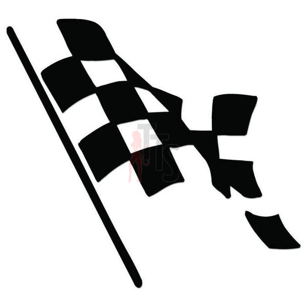 Racing Checkered Flag Decal Sticker Style 12