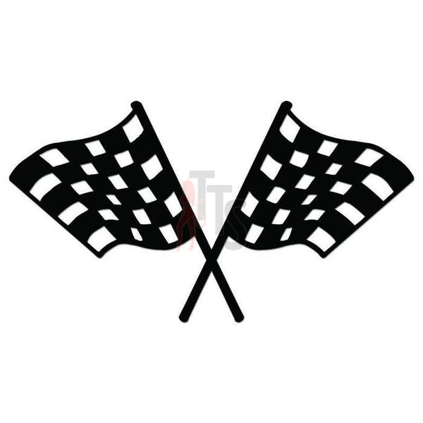 Racing Checkered Flag Decal Sticker Style 13
