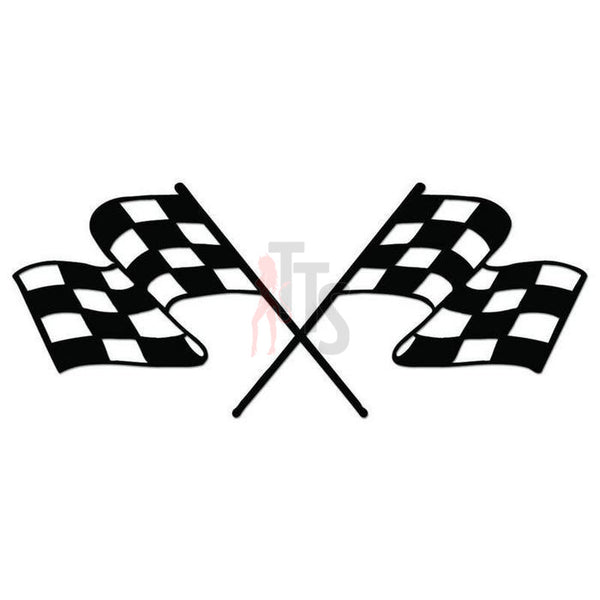 Racing Checkered Flag Decal Sticker Style 14