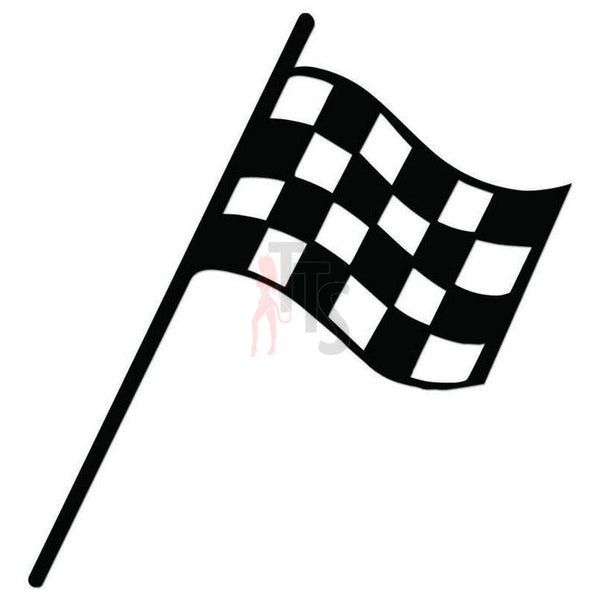 Racing Checkered Flag Decal Sticker Style 16