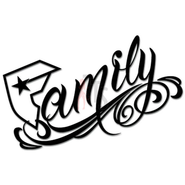Famous Family Logo Decal Sticker Style 1