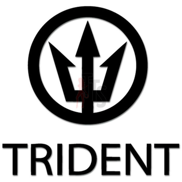 Trident Logo Decal Sticker Style 1