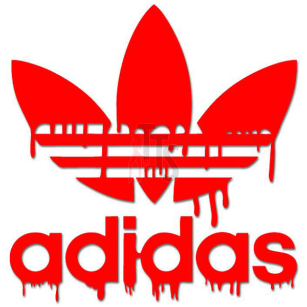 Adidas Dripping Blood Logo Decal Sticker