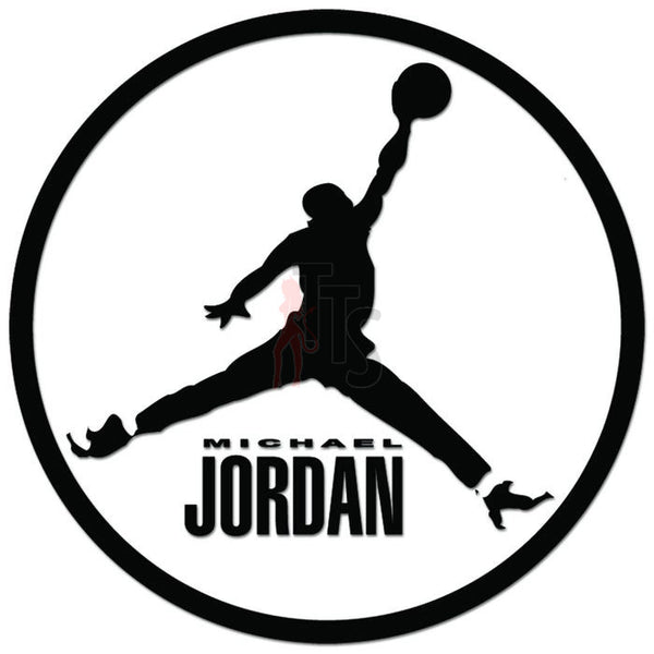 Michael Jordan Jump Decal Sticker Style 1