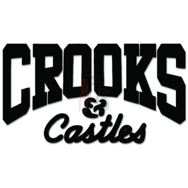 Crooks and Castles Decal Sticker Style 2