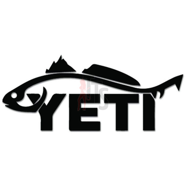 Yeti Trout Fishing Decal Sticker