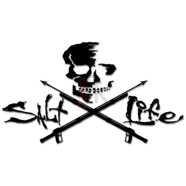 Salt Life Harpooning Skull Decal Sticker