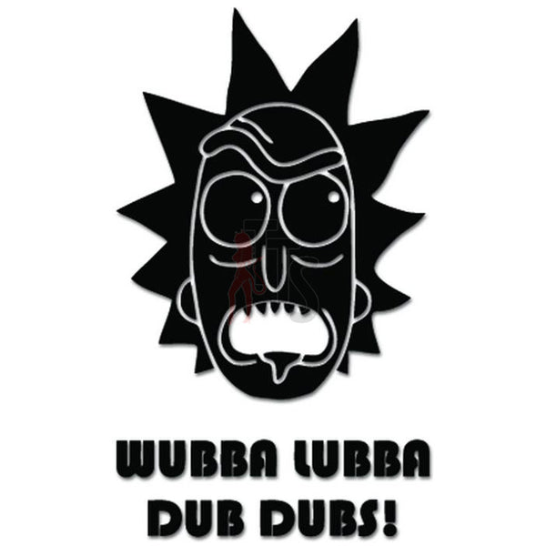Rick Morty Wubbba Lubba Dub Dubs Decal Sticker