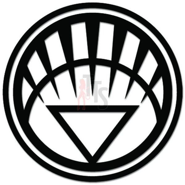 White Lantern Corps Life Emblem Decal Sticker