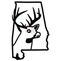Deer Buck Hunting Alabama State Decal Sticker