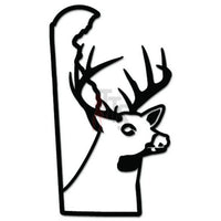 Deer Buck Hunting Delaware State Decal Sticker