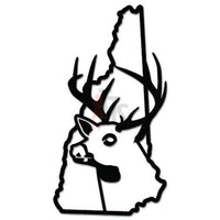 Deer Buck Hunting New Hampshire State Decal Sticker