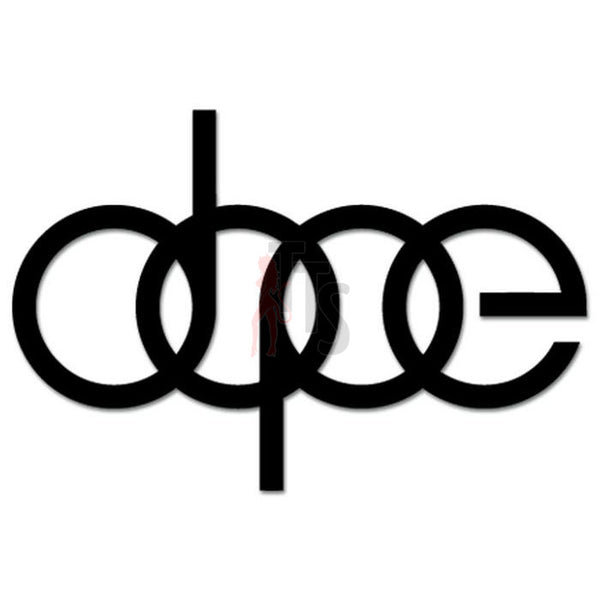 Euro Audi Rings Dope Decal Sticker Style 1