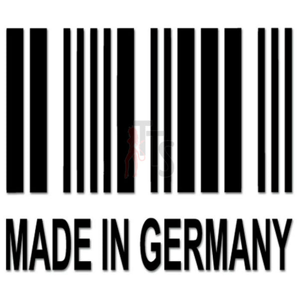 Euro Made In Germany Decal Sticker