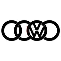 Euro Volkswagen Audi Rings Decal Sticker