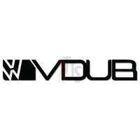 Euro VW Volkswagen VDUB Decal Sticker Style 2