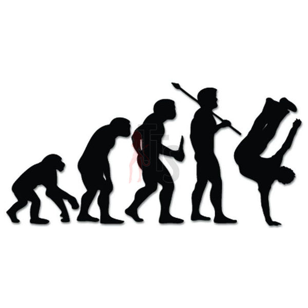 Breakdance Dancing Evolution Decal Sticker