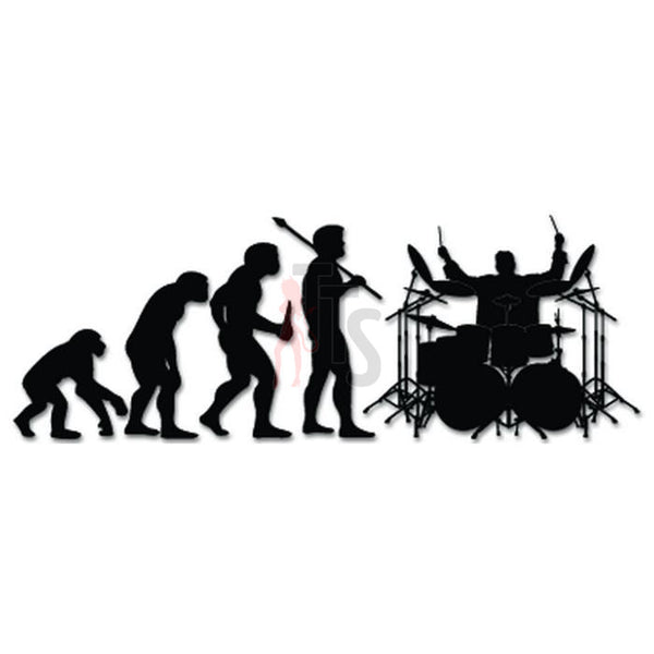 Rock Band Drummer Evolution Decal Sticker Style 1