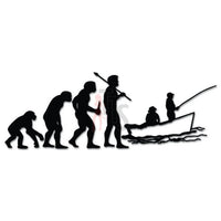 Boat Fishing Fish Evolution Decal Sticker