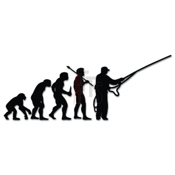 Fly Fishing Fish Evolution Decal Sticker