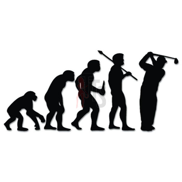 Golf Golfing Sports Evolution Decal Sticker