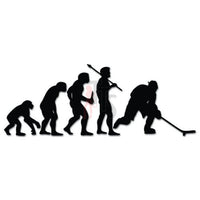 Ice Hockey Sports Evolution Decal Sticker
