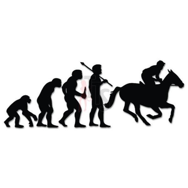 Horse Racing Racetrack Sports Evolution Decal Sticker