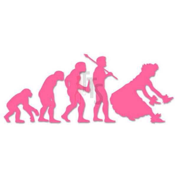 Hula Girl Dancing Evolution Hawaii Decal Sticker