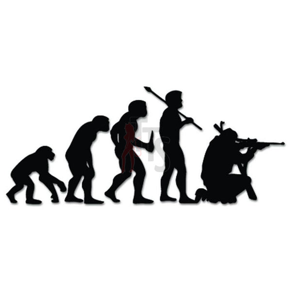 Hunting Hunter Evolution Decal Sticker