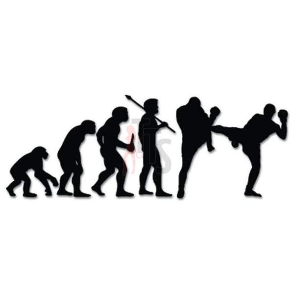 Kickboxing Sports Evolution Decal Sticker