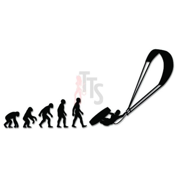 Kitesurfing Sports Evolution Decal Sticker