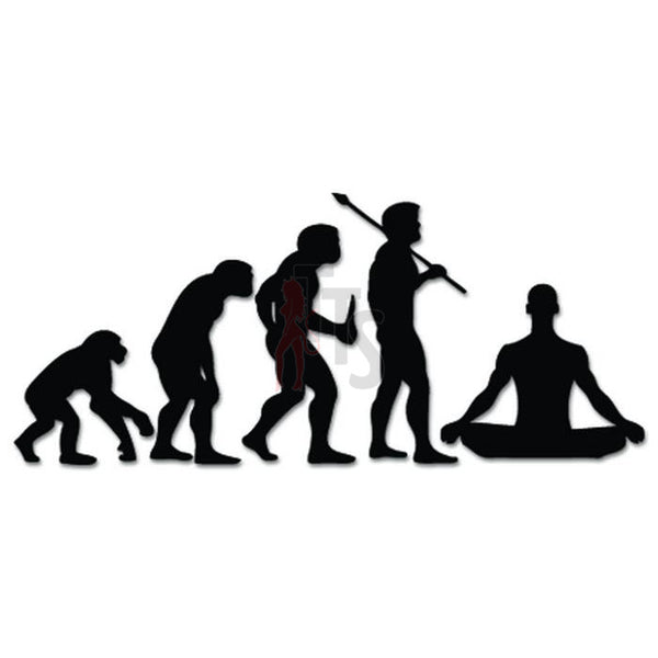 Zen Mediation Exercise Evolution Decal Sticker