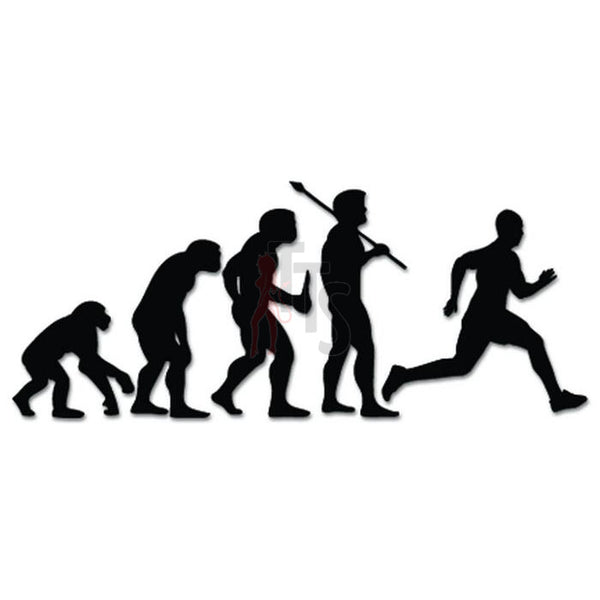Running Track Field Sports Evolution Decal Sticker