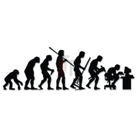 Office Worker Computer Evolution Decal Sticker