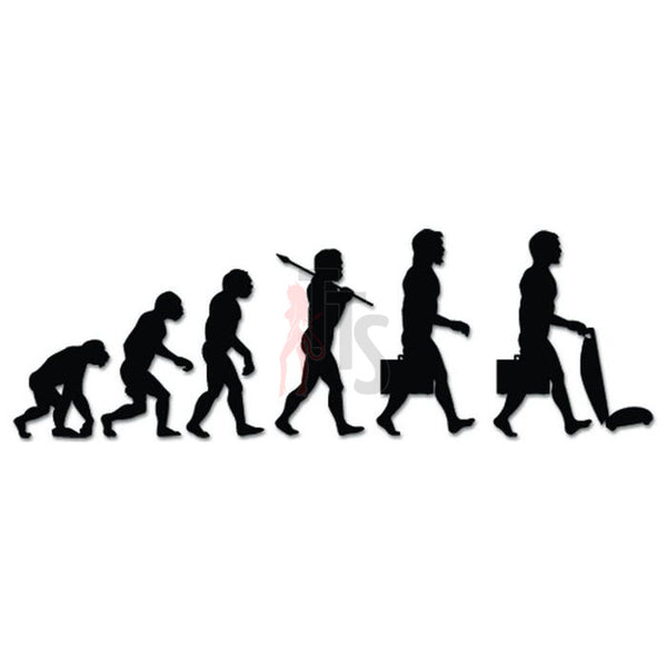 Modern Man Mr. Mom Evolution Decal Sticker